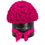 Infinity Black Pink Dome Rosebox